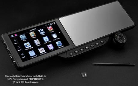 Rearview mirror - lusterko cofania z nawigacj� GPS i kamer� 720p z DVR