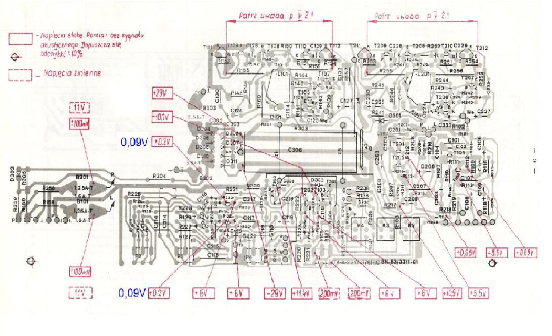 Unitra �ZR PW 3015 trzeszczy lewy kana�.