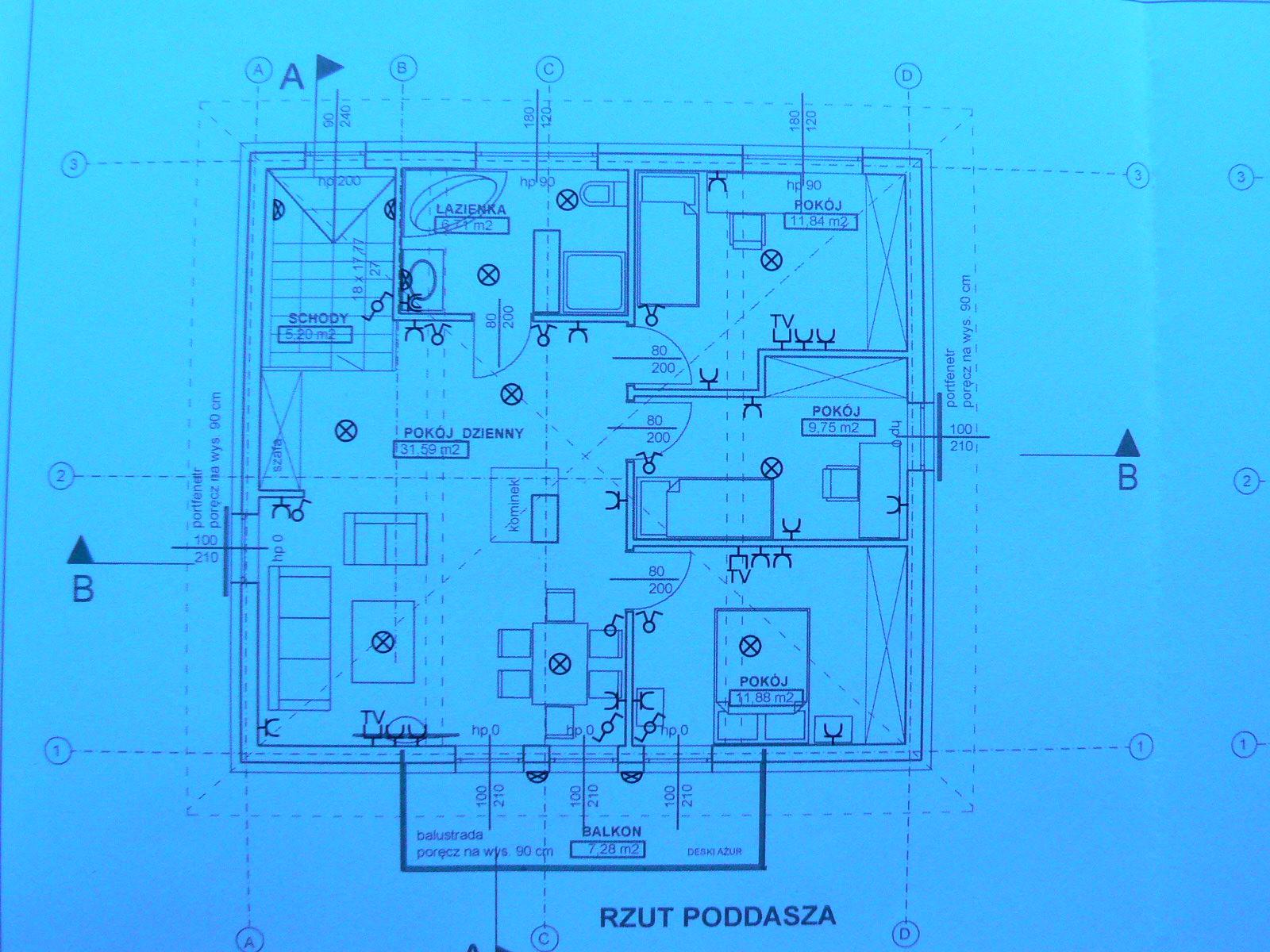 nadbudowa  domu i wykonanie instalacji w cz�sci nowobudowanej