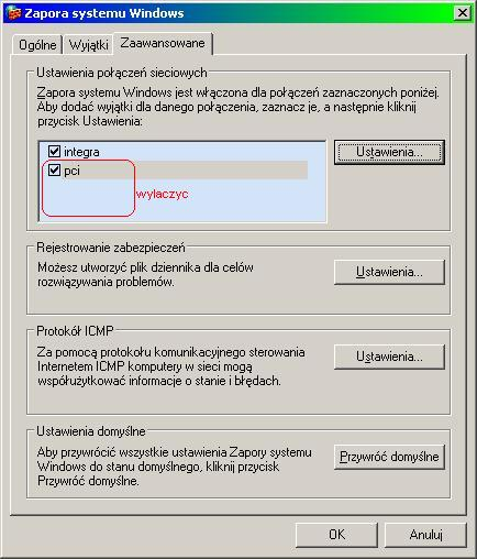 Konfiguracja Windowsowego Firewalla do dzielenia Internetu