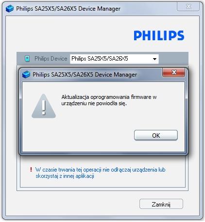 PHILIPS GoGear SA2640/02 nie wyłącza się