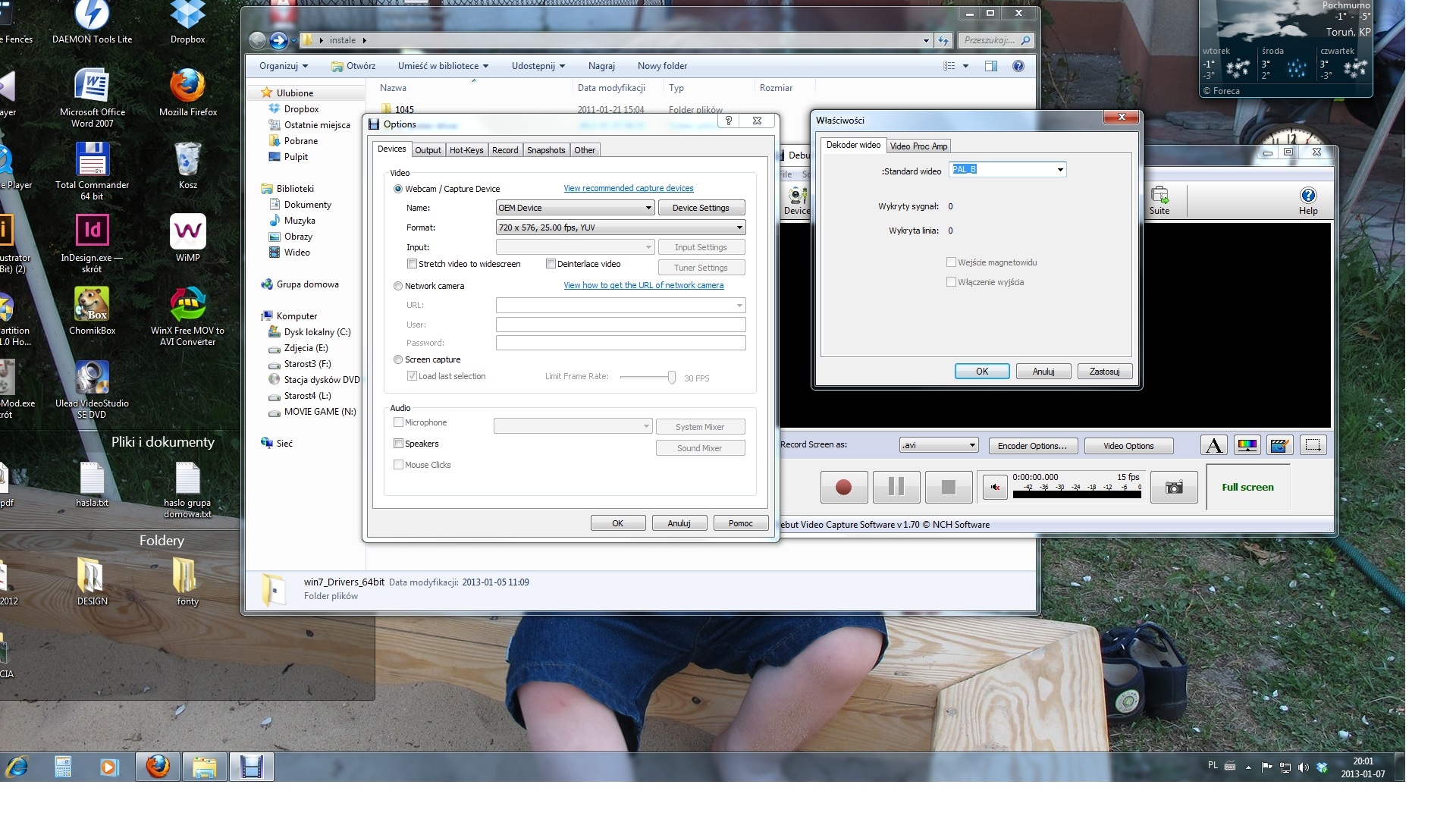 video DVR GR1 DC60 zgrywanie vhs