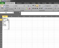 Excel opcja listy z autouzupełnianiem