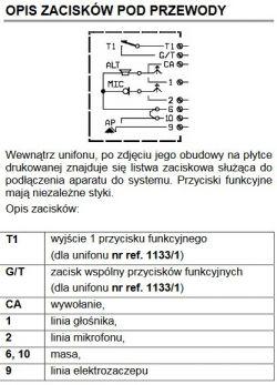 Podłączenie domofonu 5 przewodowego do instalacji 6 żyłowej