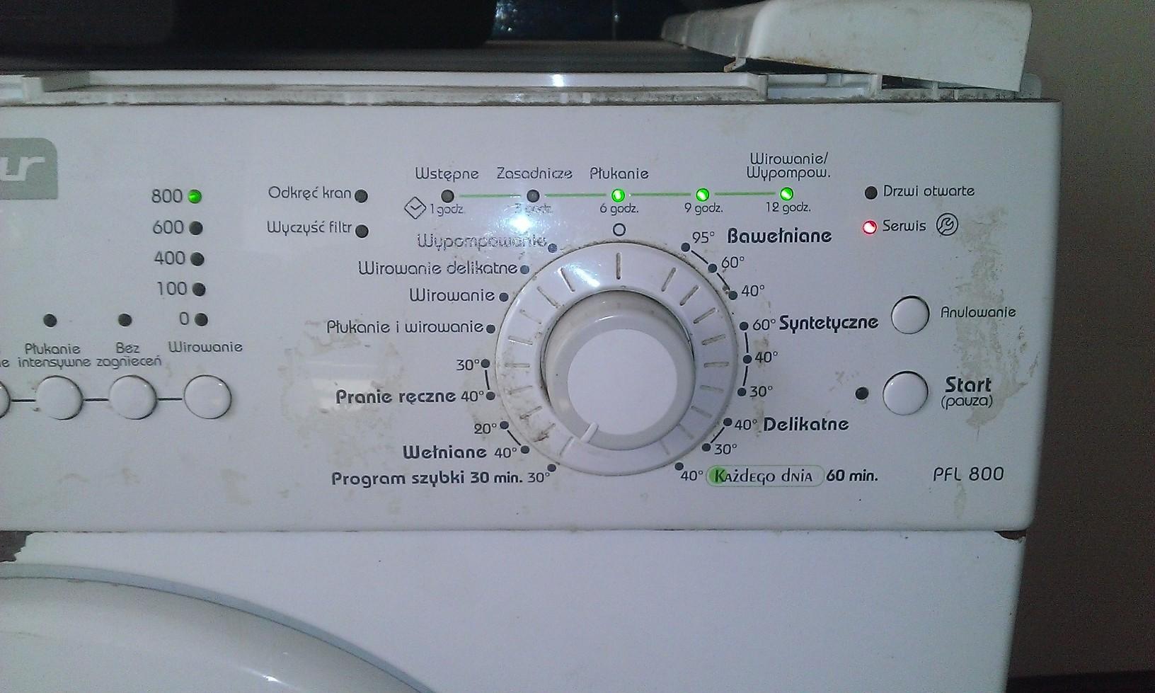polar pfl800 - b��d podczas prania.