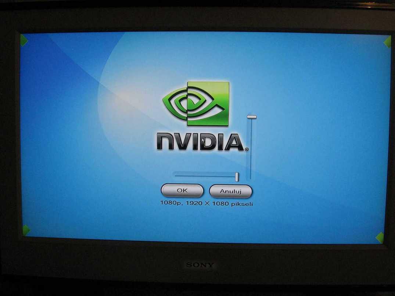 HP 8510w, Sony KDL - PC->TV po HDMI, komunikat 1920x1080, w praktyce zniekszt