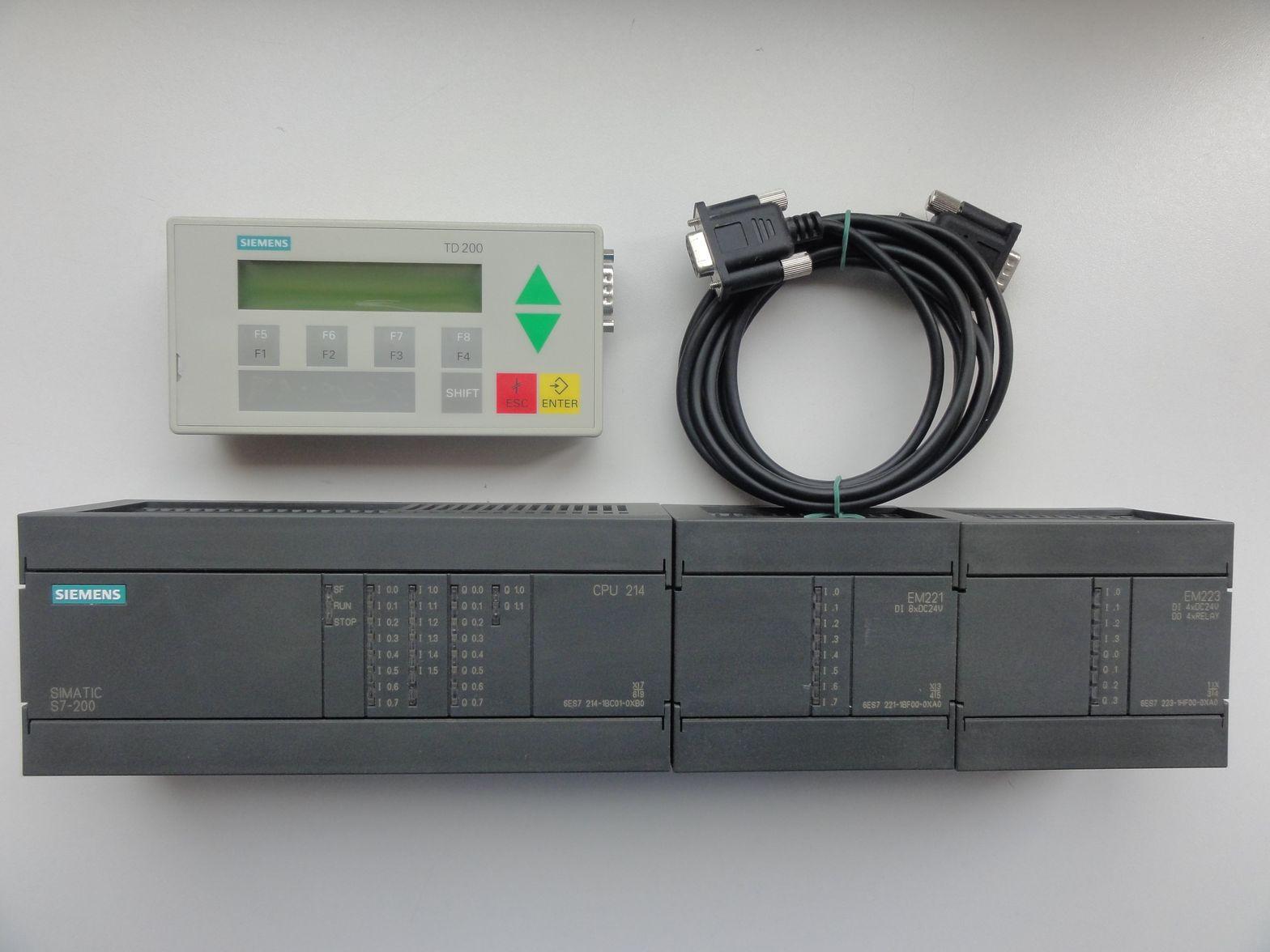 [Sprzedam] Sterownik Siemens S7-200 CPU 214 + Panel TD200  (28 wej��+16 wyj��)