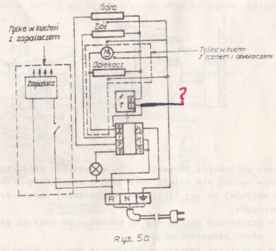 Kuchenka gazowo elektryczna Polmetal serii 400  instalacja elektryczna -> Kuchnia Amica Exclusive I