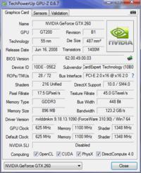 Gainward GeForce GTX 260 - Brak mozliwosci OC