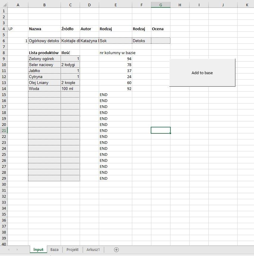 Vba Excel Kopiowanie Danych Z Formularza Do Bazy