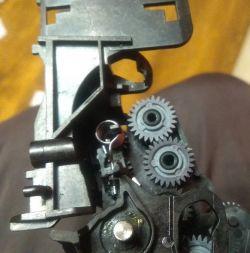 HP F735 - Karetka przesuwa się szybko strasznie stuka, zacina się.