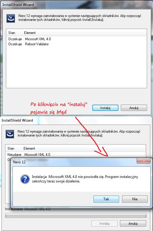 Instalator Windows na win 7 64bit msiexec.exe