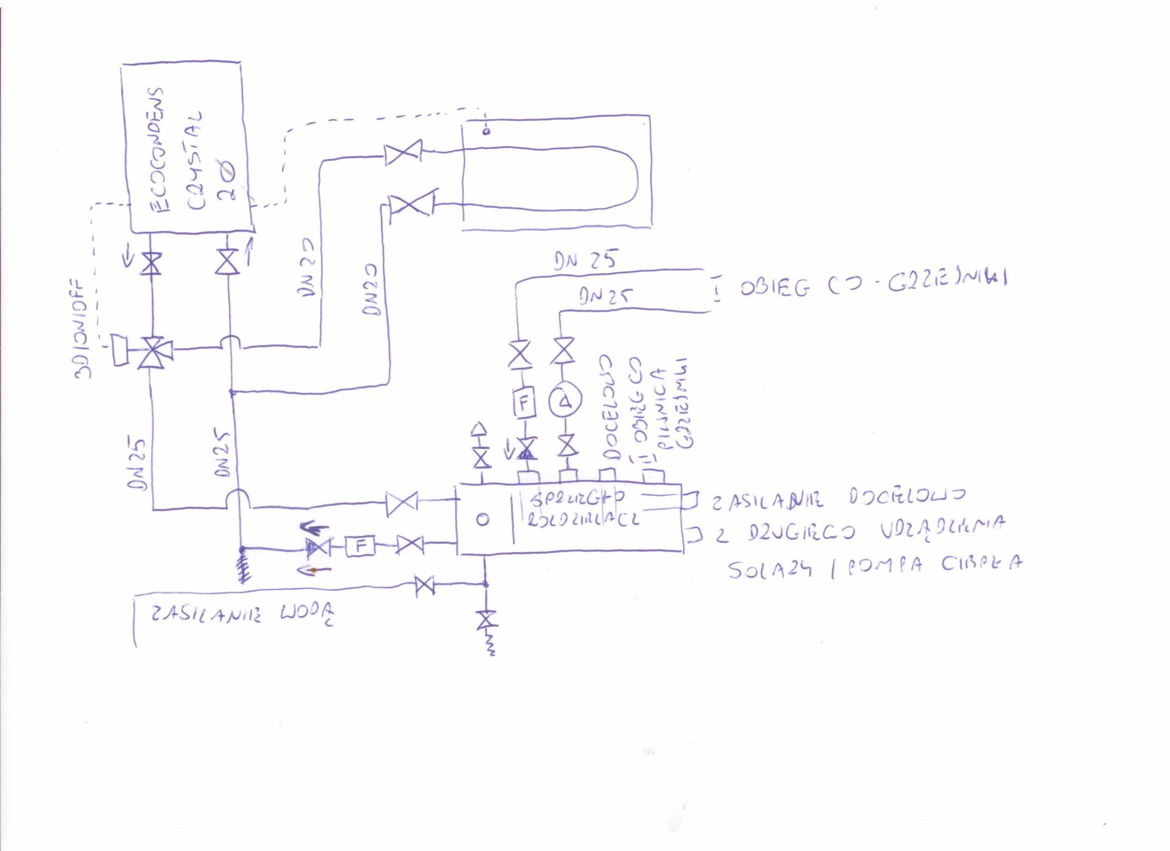 Termet Ecocondens Crystal 20 - Schemat instalacji i dobor sterownika obieg�w