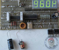 Измерение ёмкости электролитического конденсатора.