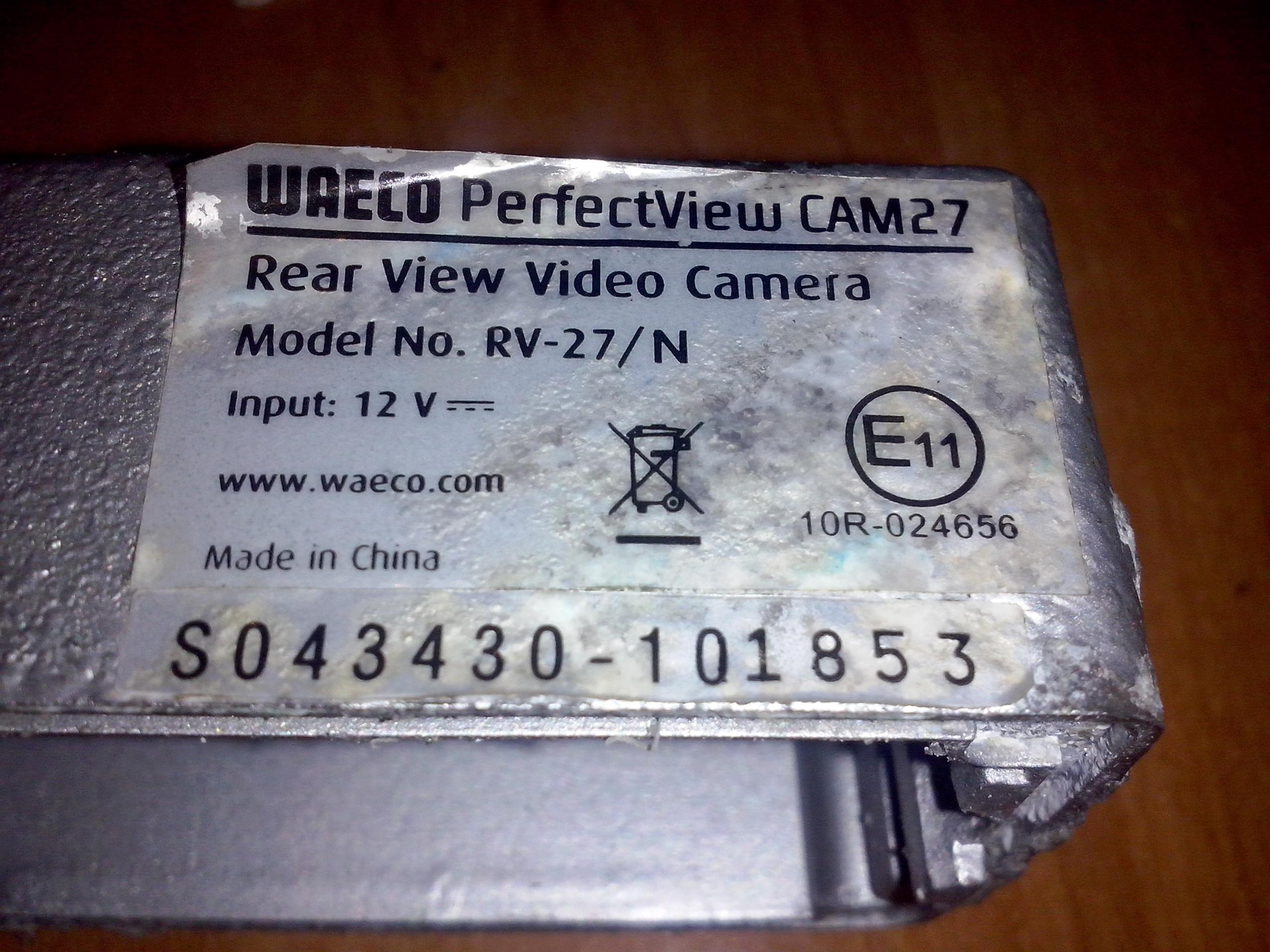 Kamera WAECO RV-27/N brak kabla
