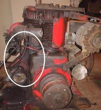 silnik spalinowy (benzyna, czterosuw)  -  przewody i podlaczenie