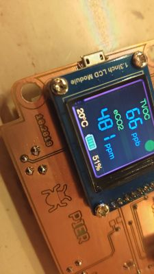 Miernik jakości powietrza- TVOC i eCO2