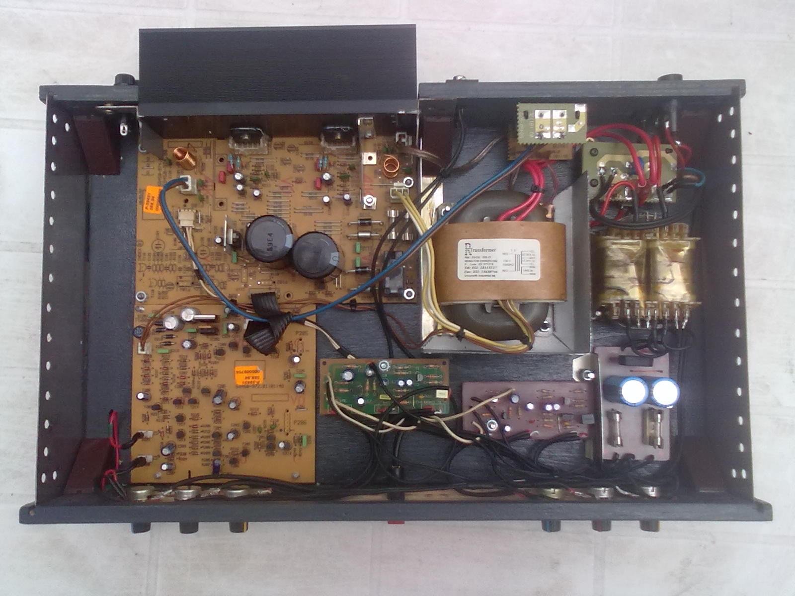 Wzmacniacz stereo LM3876 w obudowie