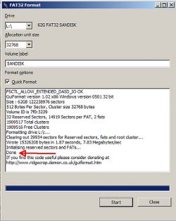 SDXC 64GB card how to do it with exFAT on FAT32?