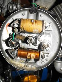 Motorower Peugeot 105- brak iskry, ustawienie zapłonu