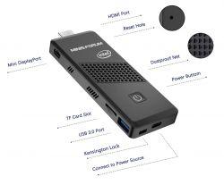 S40 - komputer typu PC Stick z N4000, miniDP i HDMI