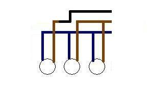 Żyrandol na 3 żarówki