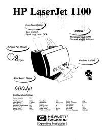 HP LJ 1100 - rozmazany wydruk