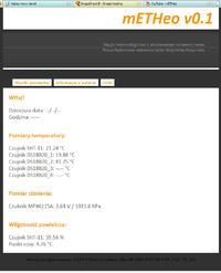 mETHeo - domowa stacja meteorologiczna z serwerem www.