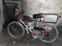 Rower na silnik spalinowy