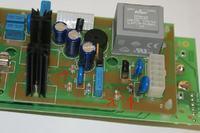Mikrofala Amica AMW 20 wypalone elementy płyty
