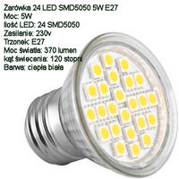 """Oświetlenie główne na """"żarówkach"""" LED."""
