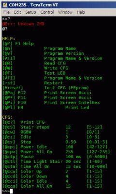 Sterownik taśm RGBW - oświetlenie schodów - Wi-FI, BT, USB, RS485, LCD graficzny