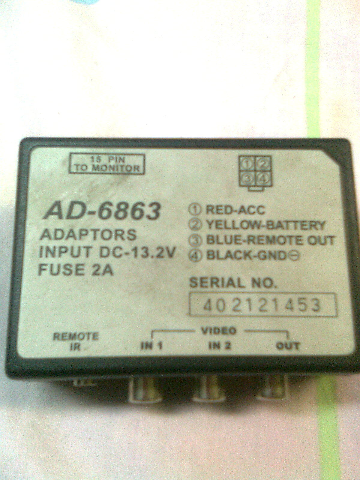 [Kupi�] Adapter AD-6863 do DVD w Toyota Corolla Verso