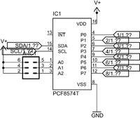 W jaki sposób zaadresować 3 układy PCF 8574AT?
