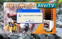 AverMedia WDM 878 - Komunikat podczas uruchamiania i r�czne wy��czanie d�wi�ku