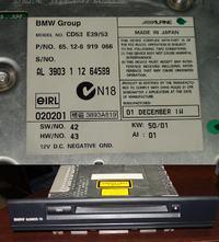 Radio z BMW CD53 , nie wy�wietla, nie dzia�aj� przyciski.