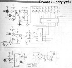 Dzwonek - pozytywka na układach TTL