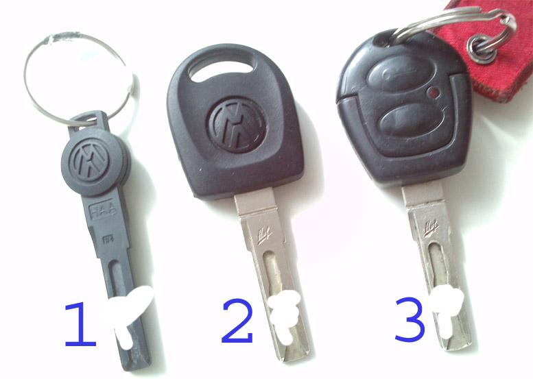VW Sharan  - Centralny zamek i kluczyki