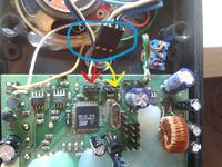 Rutus Ultra II - Wykrywacz metalu, podłączenie kabelków do PCB