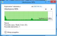 Pendrive 16GB USB 2.0 - Spadek transferu, bardzo powolny transfer plik�w...