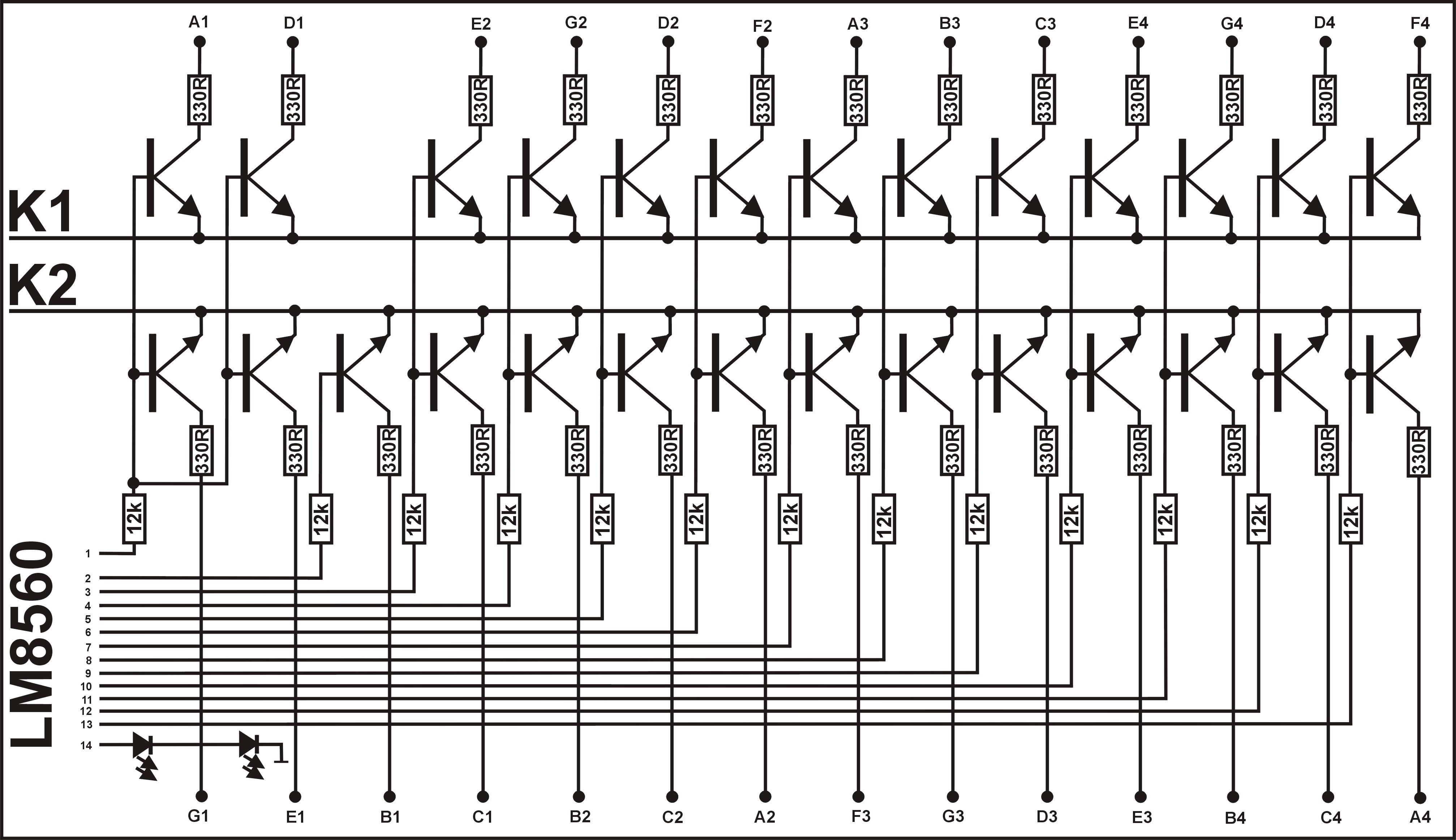 Lm8560 Wywietlacz Ju Jest Circuit Schematic