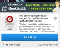 comodo internet security - comodo error