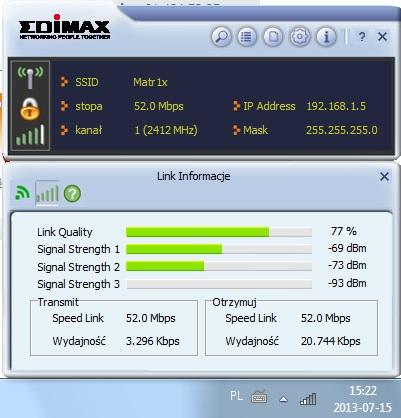 Edimax EW-7733UnD - Niska si�a sygna�u