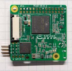 TPCast-VR - przypominająca Raspberry Pi 3 płytka prototypowa z BCM2837
