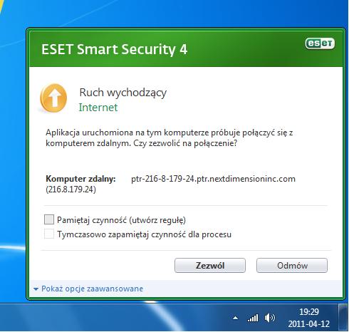 ESET Smart Security 4.0 - co zrobi� z adresem 216-8-179-24??