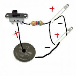 Mini instalacja LED przełącznik suwakowy baterie płaskie