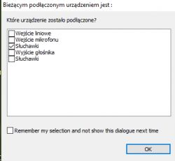 Przejściówka 2x jack -> 1x combo nie działa po aktualizacji W10