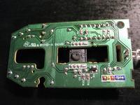 Zasilanie PS2 myszki Logitech M-SBF96-oznaczenia pinów zasilania.