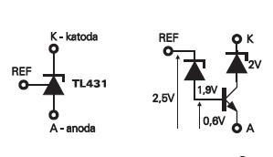 Jak działa regulowana dioda zenera TL431