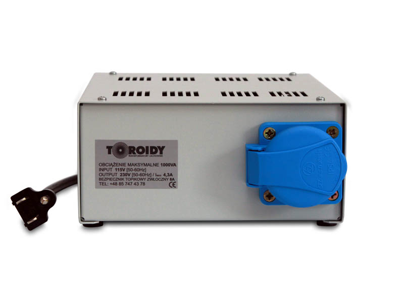 R�nic�wka RCD za autotransformatorem 110V na 230V